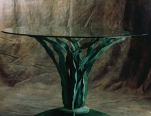 Forged Bronze & Glass Table, Antony Donaldson