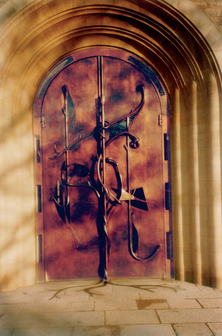 West doors, Portsmouth Cathedral, Artist: Bryan Kneale RA