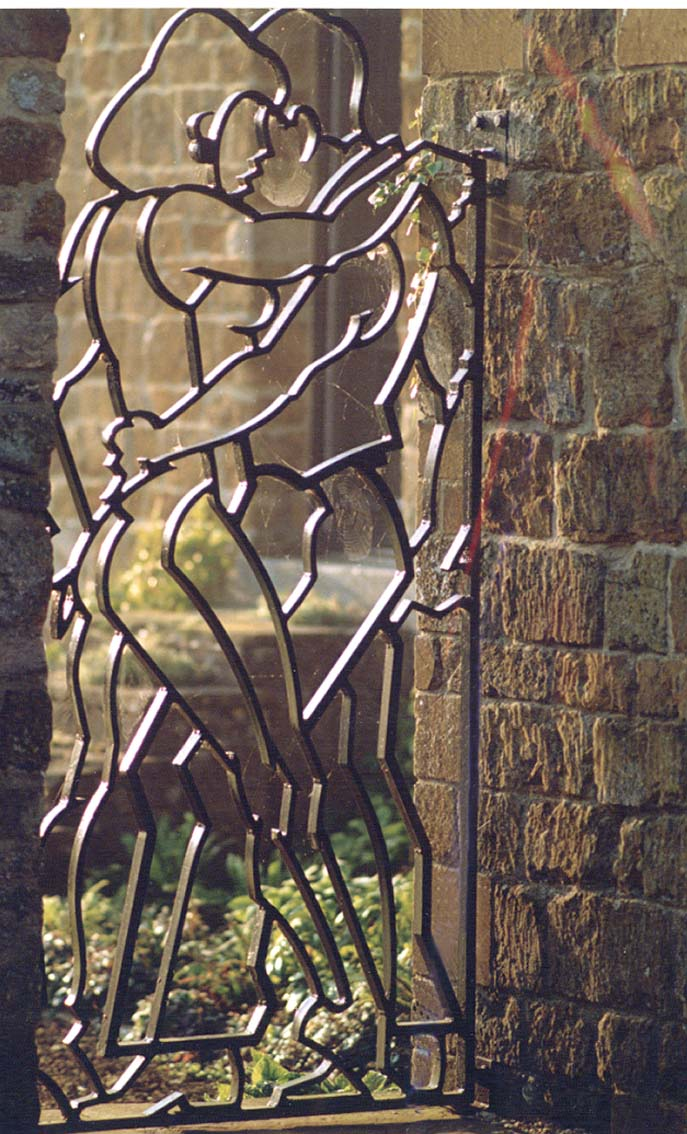 Forged steel gate, Artist: Allen Jones RA