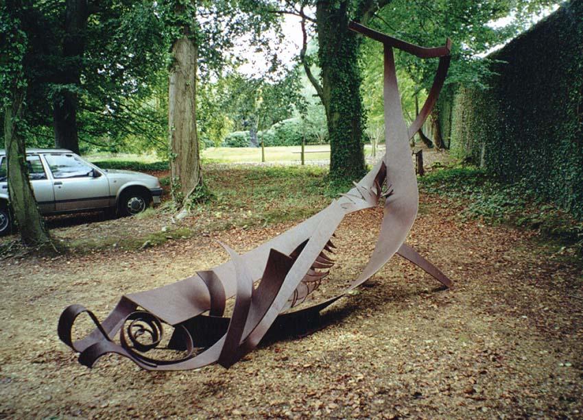 Herring, forged corten steel. Artist: Bryan Kneale RA