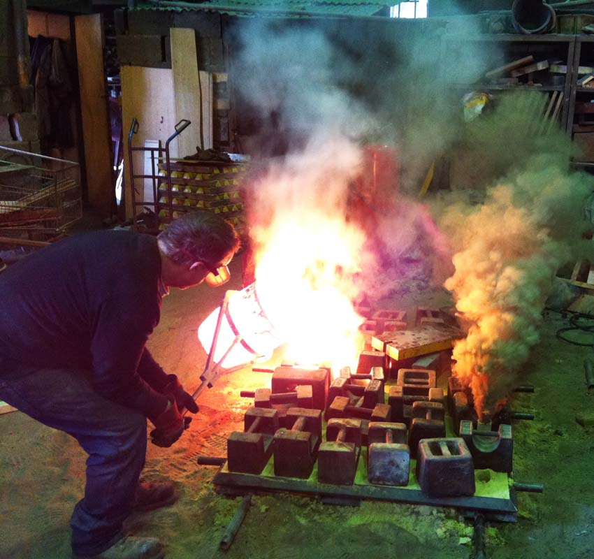 Part of the Portcullis gates being cast at the foundry.