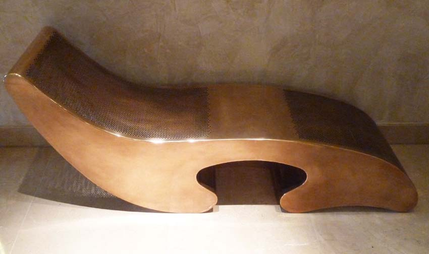 Chaise longue, bronze. Designers: Candy & Candy