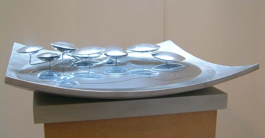 Maquette for a water fountain. Artist: Viv Levy