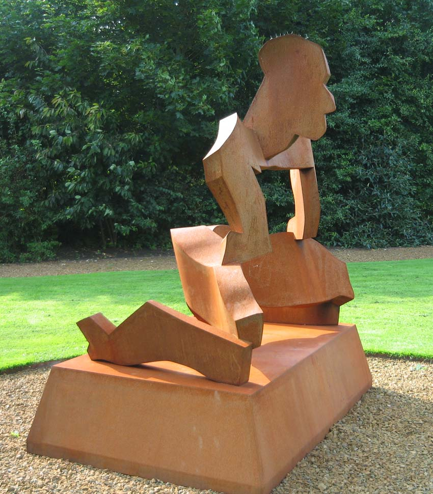 Strong Man, corten steel. Artist: Allen Jones RA