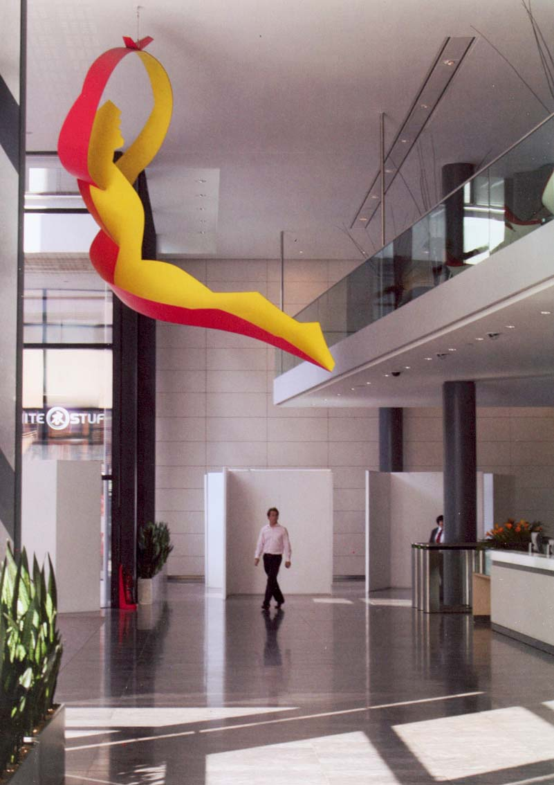 Hanging sculpture. Artist: Allen Jones RA