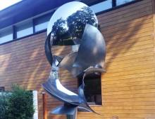 Stainless Steel Sculpture, Bryan Kneale