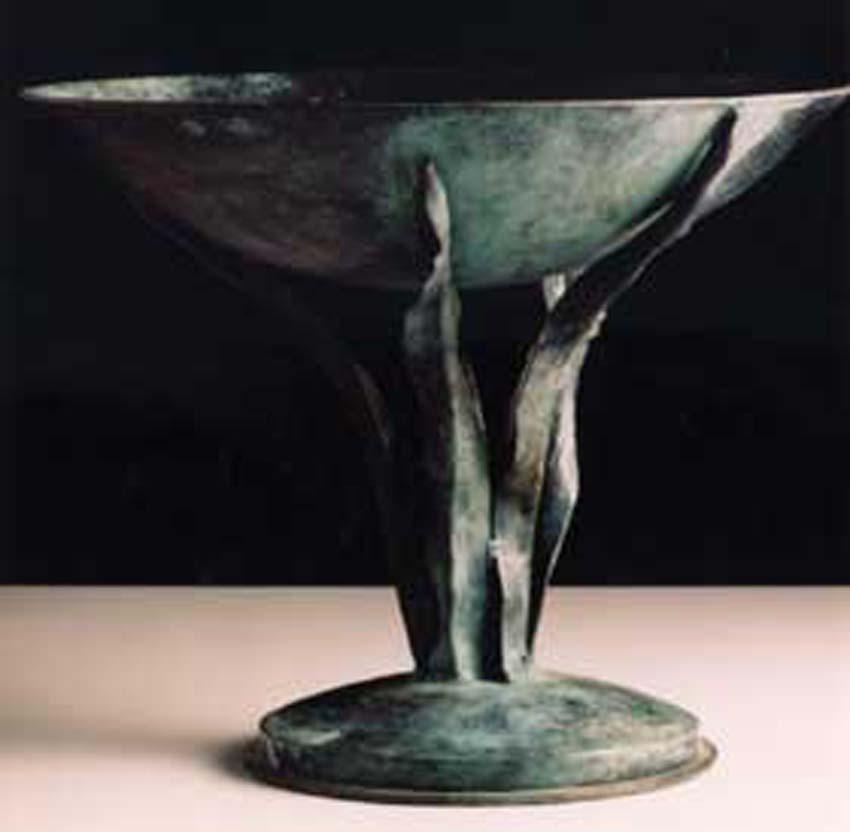 Forged bronze tazza. Artist: Antony Donaldson